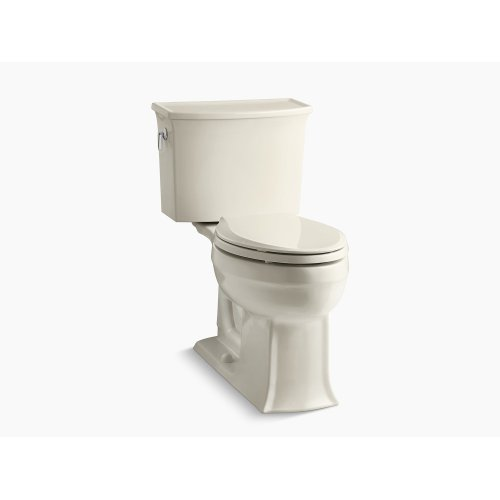 Almond Comfort Height Two-piece Elongated 1.28 Gpf Toilet With Aquapiston Flushing Technology, Seat Not Included