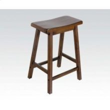 "Walnut 24"" Solid Wood Stool"
