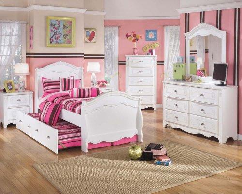 Exquisite - White 6 Piece Bed Set (Full)