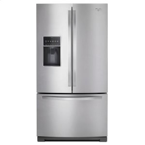 36-inch Wide French Door Bottom Freezer Refrigerator with StoreRight System - 27cu. ft. - MONOCHROMATIC STAINLESS STEEL CABINET