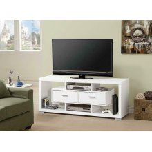 Modern White TV Console