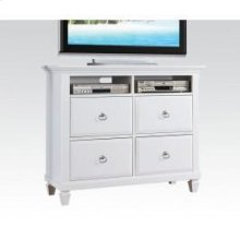 White TV Console