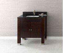 "Devon 31"" Bathroom Vanity Base Cabinet in Vintage Walnut"