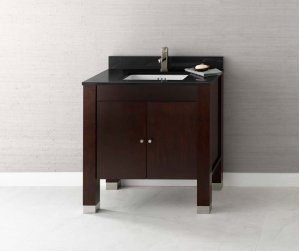 "Devon 31"" Bathroom Vanity Base Cabinet in Vintage Walnut Product Image"