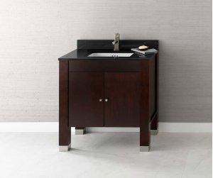 "Devon 31"" Bathroom Vanity Base Cabinet in Vintage Walnut Product Image"