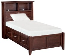CAF McKenzie Twin Bookcase Storage Bed