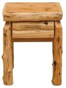 Cedar One Drawer Nightstand - Half Log Drawer Front - Traditional Cedar Product Image
