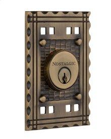 Nostalgic - Double Cylinder Deadbolt Keyed Differently - Craftsman in Antique Brass