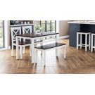Asbury Park 4-pack - Table With 2 Chairs and Bench - White /autumn Product Image