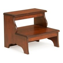 Crafted from selected hardwood solids and choice cherry veneers. Cherry veneer top, step and side panels.