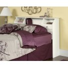 White Bookcase Headboard - Full/Queen Product Image