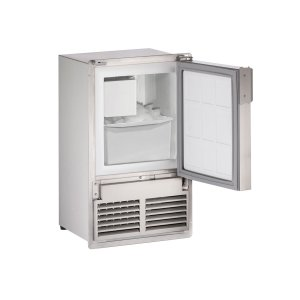 "U-LineMarine Series 14"" Marine Crescent Ice Maker With Stainless Solid Finish and Field Reversible (flush To Cabinet) Door Swing (115 Volts / 60 Hz)"