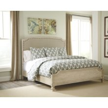 Queen Demarlos Upholstered Bed w/Rails