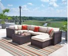 Renway - Beige/Brown 3 Piece Patio Set Product Image