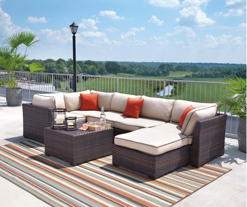 Renway - Beige/Brown 3 Piece Patio Set