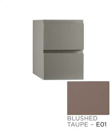 "Ariella 12"" Drawer Bridge with Two Drawers in Blush Taupe"