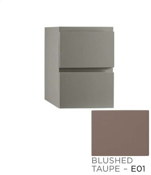 """Ariella 12"""" Drawer Bridge with Two Drawers in Blush Taupe Product Image"""