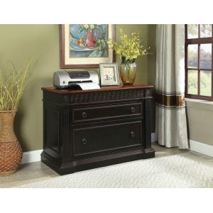 CoasterRowan Traditional Black and Espresso File Cabinet