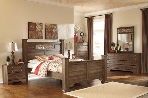 Allymore - Brown 4 Piece Bed Set (Queen)