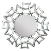 """SILVER ACCENT MIRROR, 40""""D Product Image"""