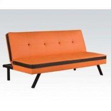 Orange/bk Pu Adjustable Sofa