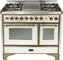 "Antique White 40"" Griddle Top Majestic Techno Dual Fuel Range"