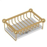 RohlEnglish Gold Perrin & Rowe Free Standing Soap Basket