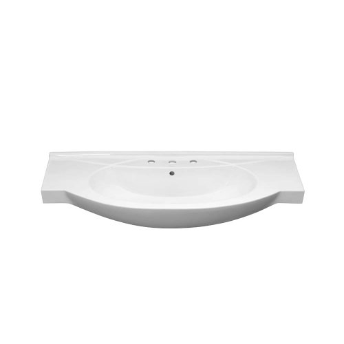 """Adara 47"""" Ceramic Sinktop with 8"""" Spread Faucet Holes in White"""