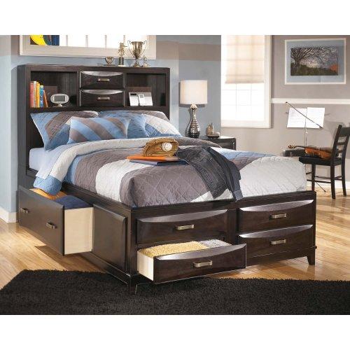 Kira - Almost Black 3 Piece Bed Set (Full)