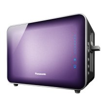 Stainless Steel and Glass Toaster, Violet