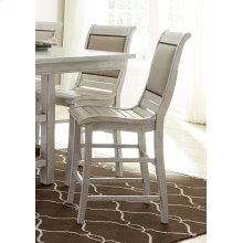Counter Upholstered Chairs (2 per carton) - Distressed White Finish