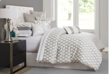 10pc King Comforter Set Platinum