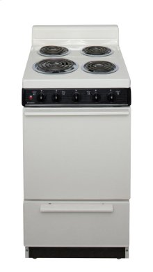 20 in. Freestanding Electric Range in Biscuit