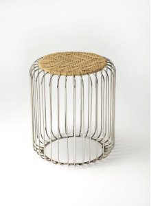 This round stool brings stylish versatility to your living space. Perfectly sized for duty as a stool or an ottoman and ready to switch gears at a moments notice. It sits nice and firm for excellent support yet offers a touch of comfort with a natural jut