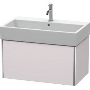 Vanity Unit Wall-mounted, White Lilac Satin Matt Lacquer