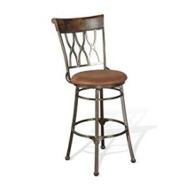 "30""H Metal Swivel Barstool"