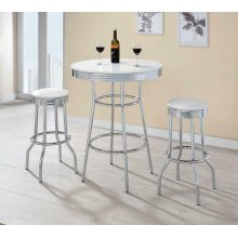 Cleveland Contemporary White Bar-height Stool