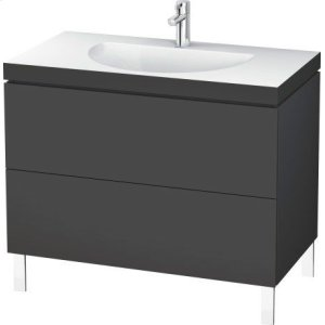 Furniture Washbasin C-bonded With Vanity Floorstanding, Graphite Matt (decor)