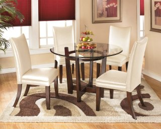 Charrell White 5 Piece Dining Room Set