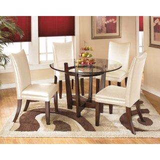 Charrell White 5 Piece Dining Room Set