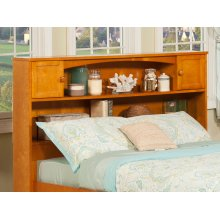 Newport Bookcase Headboard Full Caramel Latte