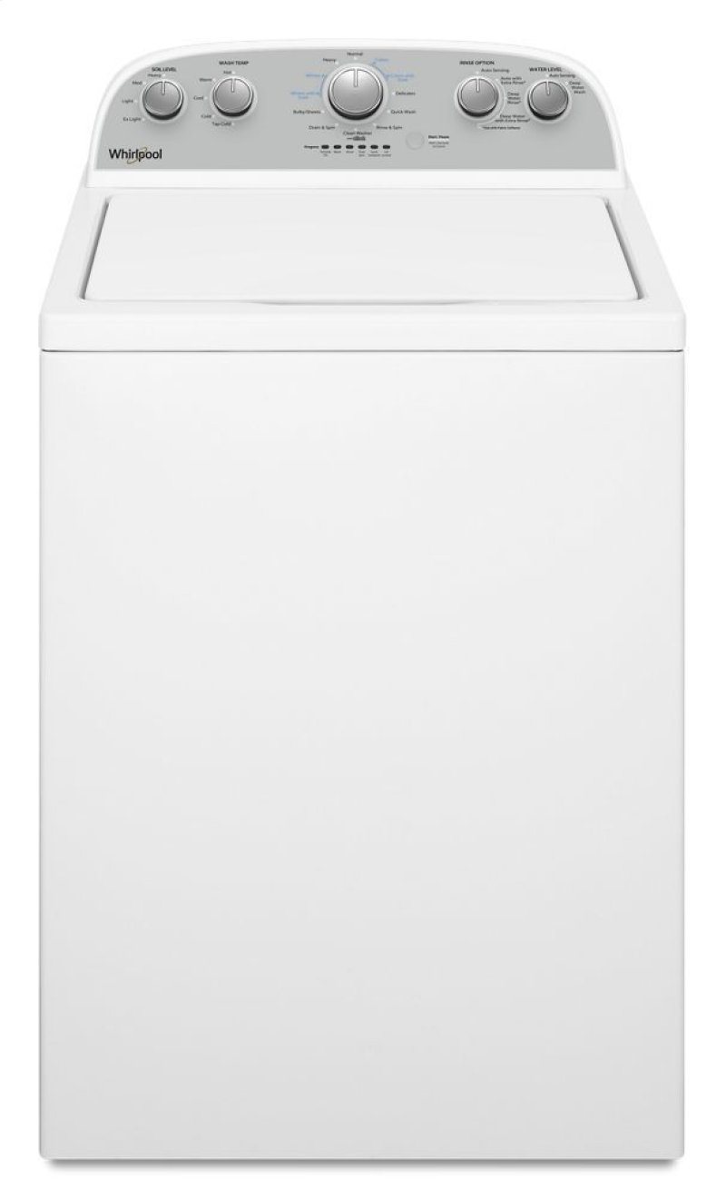 3 9 cu  ft  Top Load Washer with Soaking Cycles, 12 Cycles