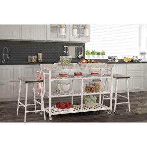 Hillsdale FurnitureKennon 3 Piece Kitchen Cart Set - Granite Top