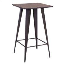 Titus Bar Table Rustic Wood