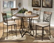 Hopstand - Brown 4 Piece Counter Height Table & 4 Barstools Product Image