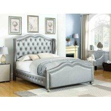 Belmont Grey Upholstered Full Bed