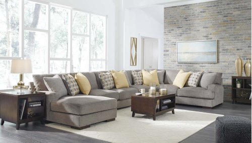 Fallsworth - Smoke 4 Piece Sectional