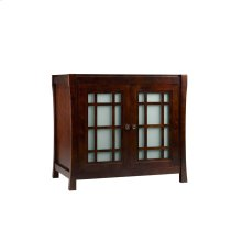 Shoji 36: Bathroom Vanity Cabinet Base in Vintage Walnut