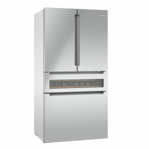 Bosch800 Series French Door Bottom Mount Refrigerator 36'' Easy clean stainless steel B36CL81ENG