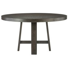 """Colworth Round Dining Table (54"""") in Black Truffle"""